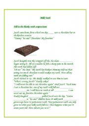 English Worksheet: Milk teeth - conjunctions