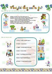 English Worksheet: USED TO