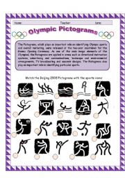English Worksheet: Olympic Pictograms