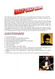 English Worksheets: TRACY CHAPMAN QUESTIONNAIRE