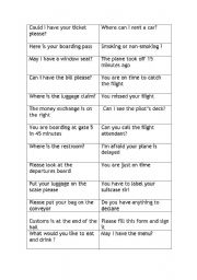 English Worksheet: airport vocabulary and role play