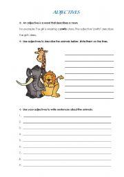English worksheet: Adjectives