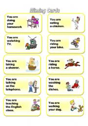 English Worksheets: Mime Cards for Adverbs