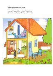 English Worksheet: House description