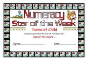 English Worksheets: star of the week