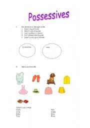 English worksheet: Possessives