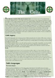 English Worksheets: The Celts