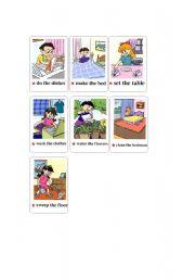English Worksheets: House chores