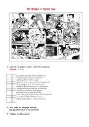 English Worksheets: Mr Bridge�s typical day