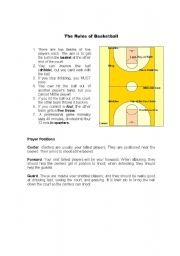 English Worksheet: The Rules of Basketball