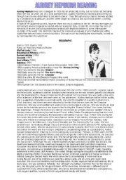 English Worksheets: audrey hepburn