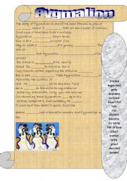 English Worksheets: The myth of Pygmalion