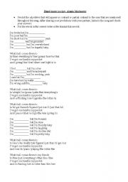 English Worksheets: HAND IN MY POCKET (ALANIS MORISSETTE)