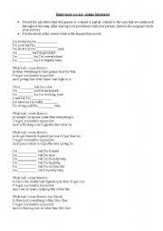 English Worksheets: HAND IN MY POCKET (ALANIS MORISSETTE)