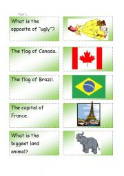 English Worksheets: Question - Answer game. Part 1.