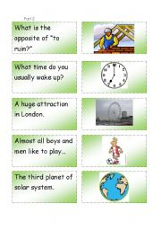 English Worksheets: Question - Answer game. Part 2.