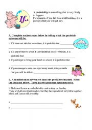 English worksheet: if conditional