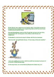 English Worksheets: TOMATO SOUP- reading comprehension