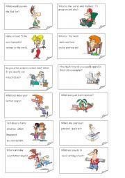 English Worksheet: Communicative Game. Part 1