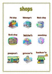 English Teaching Worksheets Shops