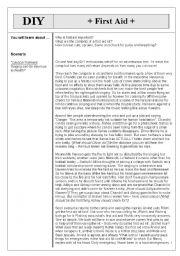 English Worksheet: Basic First Aid