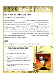 English Worksheets: Kung-Fu Panda Synopsis Cloze Exercise