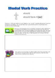 English Worksheets: Modal Verb Writing worksheet