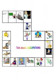 English Worksheets: Talk Abot- Occupations