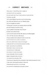 English Worksheets: CORRECT MISTAKES