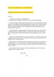 Giving advice model letter esl worksheet by mariabromero english worksheet giving advice model letter spiritdancerdesigns Choice Image