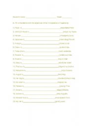 English worksheet: Comparative exercises