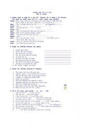 English Worksheets: revsison