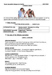 English Worksheets: A problem shared