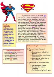 English Worksheets: Superman