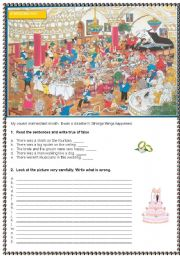 English Worksheet: A wedding day
