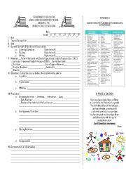 English Worksheets: ESL Lesson plan sample