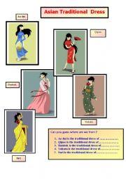 English Worksheets: Asian Traditional Dress