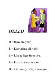 English Worksheets: Creative wrtiting - Topic: �HELLO�