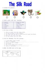 English Worksheets: the  silk  road