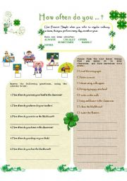 English Worksheets: HOW OFTEN DO YOU...