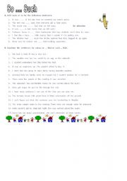 English Worksheets: so..that