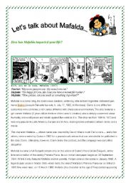 English Worksheet: The History of Mafalda