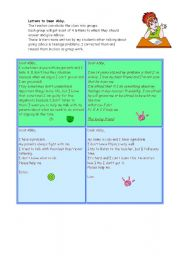 English Worksheets: Dear Abby - advice