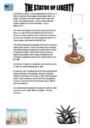 English teaching worksheets: The Statue of Liberty