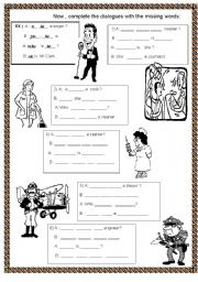English Worksheets: WHO IS HE / SHE ? TO BE ; INTERROGATIVE (YES/NO QUESTIONS AND SHORT ANSWER) STRUCTURES OF THE VERB TO BE , JOBS - PART 5