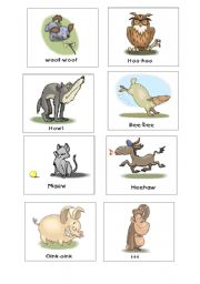 English Worksheets: Sounds of animals