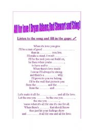 ALL FOR LOVE BY BRYAN ADAMS,ROD STEWART AND STING