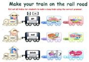 English Worksheet: The grammar train