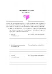 Printables The Outsiders Worksheets english teaching worksheets the outsiders movie review