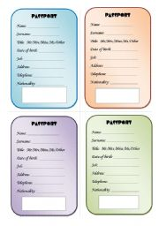 picture relating to Printable Passport for Kids identify The pport worksheets